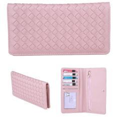 JCF Dompet Wanita Fashion Branded PU Leather Import Lipat - Chloe Pink Bagus Dan Mewah