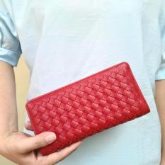 JCF Dompet Wanita Fashion Branded PU Leather Import Lipat - Chloe Red Maroon Bagus Dan Mewah