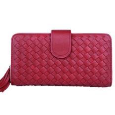 Jual Jcf Dompet Wanita Fashion Branded Pu Leather Import Lipat Felice Red Maroon Bagus Dan Mewah Jcf Online