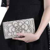 Jcf Tas Fashion Clutch Cantik Pesta Mewah Elegan Berkualitas Import Korean Style High Quality Bunga Original