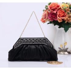 Harga Jcf Tas Fashion Clutch Primerose Cantik Pesta Mewah Elegan Berkualitas Import Korean Style High Quality Black Terbaru