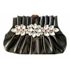 Jual Jcf Tas Fashion Clutch Rosaline Cantik Pesta Mewah Elegan Berkualitas Import Korean Style High Quality Black Murah