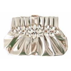 Jual Beli Jcf Tas Fashion Clutch Rosaline Cantik Pesta Mewah Elegan Berkualitas Import Korean Style High Quality Silver Di Indonesia