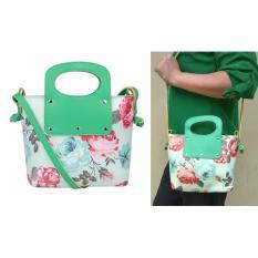 Spesifikasi Jcf Tas Selempang Fashion Anak Remaja Dan Dewasa Cantik Branded Kulit Sintetis Import Angela Flower Green Online