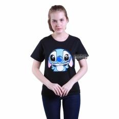 Rp 27.900. JCLOTHES Kaos Cewe / Tumblr Tee / Kaos Wanita Lengan Pendek Stitch - HitamIDR27900