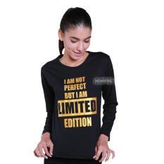 JCLOTHES Tumblr Tee / Kaos Cewe / Kaos Lengan Panjang Wanita I Am Not Perfect - Hitam