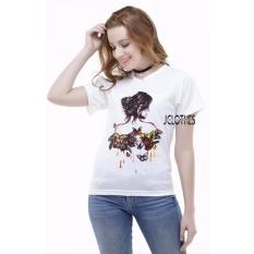 JCLOTHES Kaos Cewe / Tumblr Tee / Kaos Wanita Bodygirl - Putih