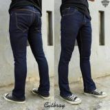 Harga Jeans Denim Cutbray Streecth Navyblue Celana Jeans Pria Asli