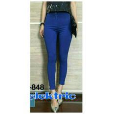 LFS Jeans Legging Wanita MURAH / Legging pants / Celana Panjang Cewek Polos / Celana Lebaran / Bawahan Cewek (persu ansje NPBM) NR D30 - Biru D3C
