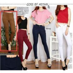 Jeans Legging Wanita MURAH / Legging pants / Celana Panjang Cewek Polos / Celana Lebaran / Bawahan Cewek (persu ansje NPBM) NR D30 - Coklat D3C