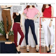 Lf Jeans Legging Wanita Joger Pants Celana Panjang Wanita Persu Ansje Npbm Nr D30 Putih D3C Original