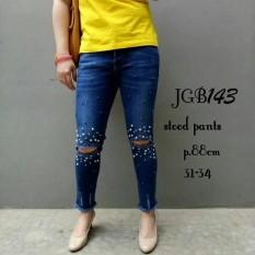 Jeans Sobek Lutut Mute JGB143 | Celana Jean Keren