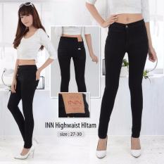 Toko Nusantara Jeans Celana Panjang Wanita Haigwaist Model Tinggi Sepuser Retsleting Kuat Berbahan Denim Hitam Online