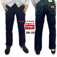 Toko Jeans Wrangler Regular Fit Standar 28 32 Biru Dongker Murah Dki Jakarta