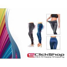 Diskon Produk Jegging Biru Legging Jeans Pelangsing Tubuh All Size Fit L