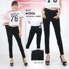 Nusantara Jeans - Celana Jegging Wanita Berbahan Denim Pinggang Karet Tidak Pakai Resleting Sesuai Gambar Jahitan Rapi -