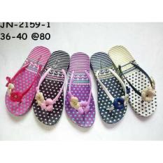 Jelly Sandal Premium Triple Lily - Sandal Jepit Karet Import Murah New