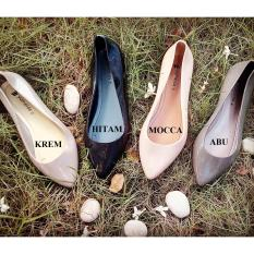 Jelly Shoes Flat Lancip (Krem)