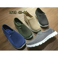 jelly shoes kets pria sepatu slip on luofu casual import 40-44 1618