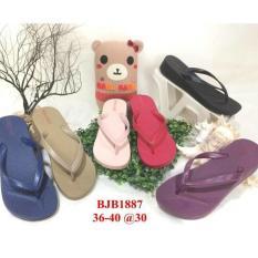 Jelly Wedges Sandal Jepit Wanita Bara Bara Sendap Japit Import Bjb1887