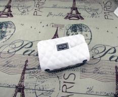 Jual Tas Rantai Wanita Mini Matte Jelly Lingge Putih Putih Branded Murah