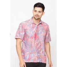 Cuci Gudang Jening Batik Short Sleeve Hr 061 Pink Blue