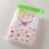 Cara Beli Bayi Jepang Gadis Bayi Bagian Tipis T Shirt 3 Kelompok D Merah Muda Peach Jantung Lengan Pendek 3 Kelompok D Merah Muda Peach Jantung Lengan Pendek