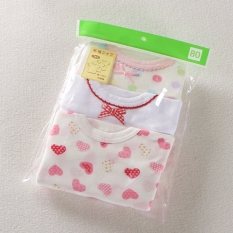 Bayi Jepang Gadis Bayi Bagian Tipis T Shirt 3 Kelompok D Merah Muda Peach Jantung Lengan Pendek 3 Kelompok D Merah Muda Peach Jantung Lengan Pendek Murah