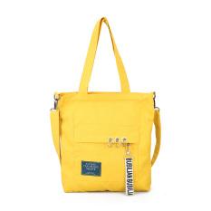 Spesifikasi Kanvas Gelang Besi Asesoris Gantung Tas Belanja Tas Belanja Kuning Murah