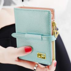 Beli Jepang Dan Korea Selatan Zipper Perempuan Baru Dompet Wanita Wallet Mutiara Biru Lengkap