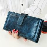 Toko Jual Jepang Dan Korea Selatan Zipper Perempuan Lilin Minyak Kulit Dompet Dompet Yang Baru Wanita Wallet Perunggu Hijau Tas Tas Wanita Dompet Wanita