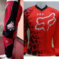 Jual Beli Jerset Jersey Celana Trail Cross Motocross Fox1 Merah1 Baru Jawa Barat