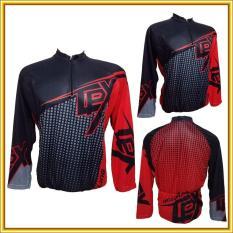 Jersey Baju Kaos Sepeda Pria CPX XC Merah