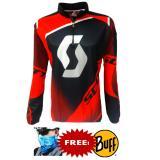 Harga Hemat Jersey Baju Sepeda Scott Cycling Jersey Biking Mtb 01 Merah