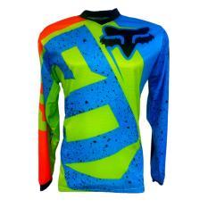 Jual Jersey Baju Sepeda Tangan Panjang Fox3 Mtb Downhil Motorcross Hijau Jersey