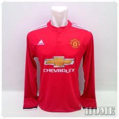 Jersey Bola Kaos Olahraga T-Shirt Lengan Panjang MU