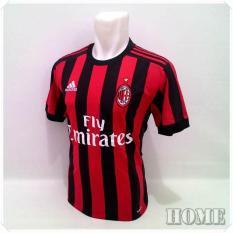 Jersey Bola  /  Kaos T-Shirt Bola / AC Milan Home / 2017 - 2018