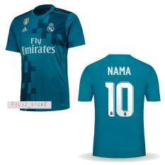 Harga Jersey Bola Madrid Third 3Rd 2017 2018 Custom Nama Nomor Yg Bagus