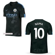 Harga Jersey Bola Man City 3Rd Third 2017 2018 Custom Nama Nomor Fullset Murah