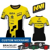 Jual Jersey Navi Yellow White 2015 Custom Nickname Baru