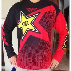 Jersey Sepeda Rockstar Red LS M-XXL Motocross Motor Sepeda Motor Sepeda Mtb Enduro Motor Cross