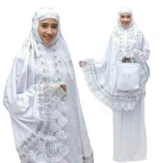 Jessica Fashion Mukena Dewasa Ashanti  Katun Foil - Putih 2 - Best Seller