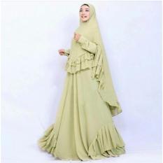 Jessica Fashion Syari Salwa - Hijau  Jumbo  2