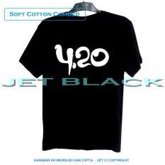 JET - Kaos Distro T-Shirt Fashion 100% Soft Cotton Combed 30s Pria Wanita Cewe Cowo Baju Shirt 3D J
