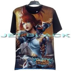 JET – Kaos Mobile Legend FANNY Distro T-Shirt Fashion Soft Cotton Combed 30s Pria Wanita Cewe Cowo Baju TShirt 3D Terbaru Kekinian Animasi Gambar Kartun Mobil Mobilelegend Jakarta Bandung Legends Atasan Pakaian Murah Lengan Keren Bagus Anime Superhero