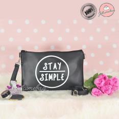 Sling Bag Tas Wanita Kulit Sablon Stay Simple - Jetcomebag