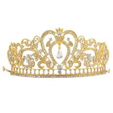 Beli Perhiasan Pengantin Headdres Mahkota Keemasan Internasional Vakind Dengan Harga Terjangkau