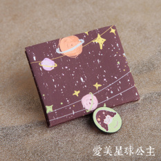 Jewenew Korea Modis Gaya Kanvas Tipis Mini Dompet (Amy Planet Putri)