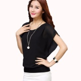 Beli Jfashion Blus Chiffon Gaya Korea Tanpa Lengan Model Wing Jfashion Murah
