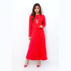 Jfashion Long Dress Gamis Maxi Tangan Panjang Polos - Maxi Polos